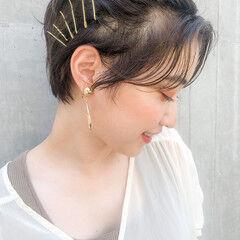 ショートヘア ショート 簡単ヘアアレンジ ベリーショート ヘアスタイルや髪型の写真・画像