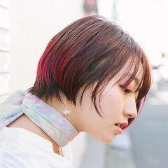 グラボブ PEEK-A-BOO 似合わせカット ストリート ヘアスタイルや髪型の写真・画像
