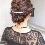 ナチュラル 結婚式ヘアアレンジ デート 結婚式髪型