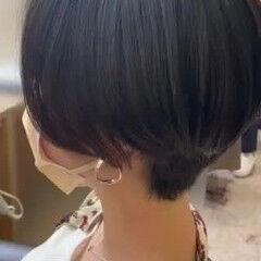 かき上げ前髪 中村アン モード ショート ヘアスタイルや髪型の写真・画像