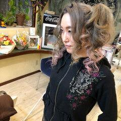 ストリート アッシュ ツインテール 外国人風カラー ヘアスタイルや髪型の写真・画像