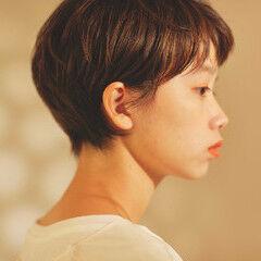 ショートヘア 前髪 ショートボブ ナチュラル ヘアスタイルや髪型の写真・画像