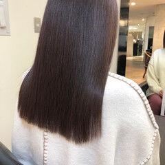 セミロング 髪質改善トリートメント ナチュラル 大人ロング ヘアスタイルや髪型の写真・画像