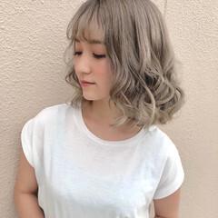 モテ髪 透明感カラー ブリーチ イメチェン ヘアスタイルや髪型の写真・画像