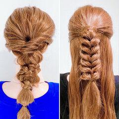 ヘアセット ヘアアレンジ ロングヘア くるりんぱ ヘアスタイルや髪型の写真・画像