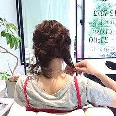 簡単ヘアアレンジ デート セルフヘアアレンジ フェミニン ヘアスタイルや髪型の写真・画像