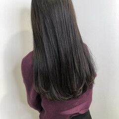 ブリーチなし 暗髪女子 ダークアッシュ ダークカラー ヘアスタイルや髪型の写真・画像