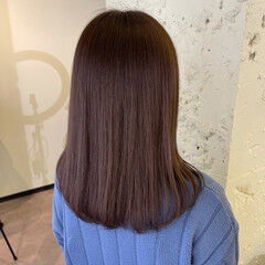 グレージュ 透明感 ガーリー ヘアカラー ヘアスタイルや髪型の写真・画像