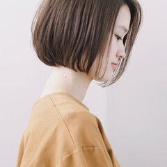 ミニボブ ショートボブ ワンレン ナチュラル ヘアスタイルや髪型の写真・画像