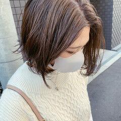 グレーアッシュ グレージュ アッシュグレージュ アッシュベージュ ヘアスタイルや髪型の写真・画像