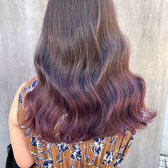 透明感カラー 地毛風カラー 韓国風ヘアー セミロング ヘアスタイルや髪型の写真・画像