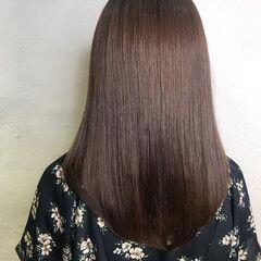 フォルムコントロールプレックス髪質改善 ナチュラル ロング ミルクティーベージュ ヘアスタイルや髪型の写真・画像