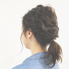 簡単ヘアアレンジ ツイスト ボブ くるりんぱ ヘアスタイルや髪型の写真・画像