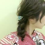 ミディアム 和装 三つ編み まとめ髪
