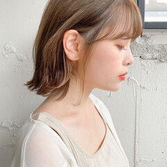インナーカラー ナチュラル アンニュイほつれヘア 簡単ヘアアレンジ ヘアスタイルや髪型の写真・画像