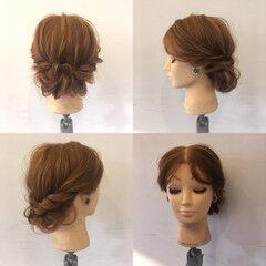 波ウェーブ ヘアアレンジ ロープ編み フェミニン ヘアスタイルや髪型の写真・画像