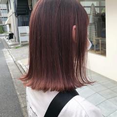 オルチャン ボブ タッセルボブ ラズベリーピンク ヘアスタイルや髪型の写真・画像