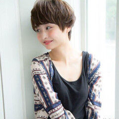 ナチュラル ショート ショートボブ 田中美保 ヘアスタイルや髪型の写真・画像