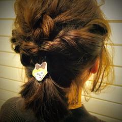 ヘアゴム 簡単ヘアアレンジ ショートボブ ヘアアレンジ ヘアスタイルや髪型の写真・画像