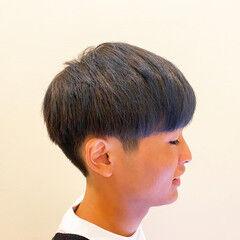 簡単スタイリング メンズヘア メンズ マッシュ ヘアスタイルや髪型の写真・画像
