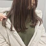 セミロング 大人カジュアル 福岡市 ツヤ髪