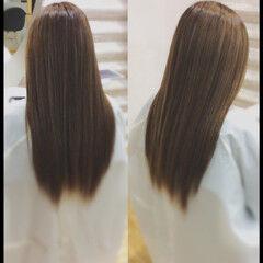 社会人の味方 ロング 髪質改善 ナチュラル ヘアスタイルや髪型の写真・画像