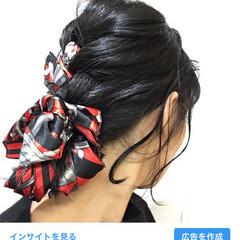 エレガント ロング デート ヘアアクセ ヘアスタイルや髪型の写真・画像
