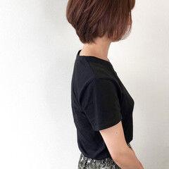 ショート ナチュラル アッシュブラウン ショートボブ ヘアスタイルや髪型の写真・画像