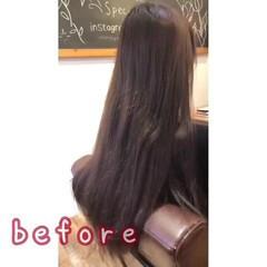 ロング ダークアッシュ 暗髪女子 ツヤ髪 ヘアスタイルや髪型の写真・画像