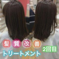 うる艶カラー ナチュラル ロング 髪質改善 ヘアスタイルや髪型の写真・画像