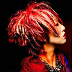ショート モード ウィッグ ヘアスタイルや髪型の写真・画像