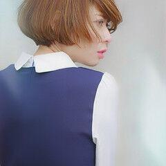 モテボブ デート ボブ 大人ヘアスタイル ヘアスタイルや髪型の写真・画像