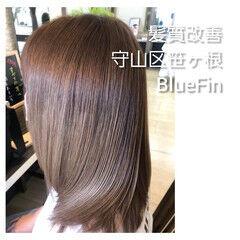縮毛矯正 ナチュラル 名古屋市守山区 セミロング ヘアスタイルや髪型の写真・画像