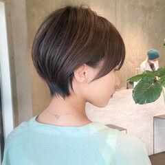 ナチュラル 丸みショート ショートヘア 大人可愛い ヘアスタイルや髪型の写真・画像