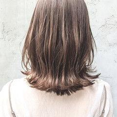 ショートヘア ロブ くびれカール コテアレンジ ヘアスタイルや髪型の写真・画像