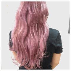 韓国ヘア ガーリー ロング ハイトーン ヘアスタイルや髪型の写真・画像