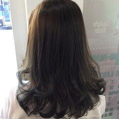 グラデーションカラー セミロング ナチュラル ダブルカラー ヘアスタイルや髪型の写真・画像