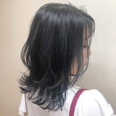 切りっぱなしボブ ウルフカット ミディアム モード ヘアスタイルや髪型の写真・画像