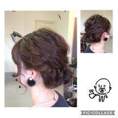 ヘアアレンジ ロング ギブソンタック 結婚式 ヘアスタイルや髪型の写真・画像