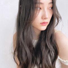 ナチュラル レイヤーロングヘア タンバルモリ 韓国ヘア ヘアスタイルや髪型の写真・画像