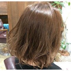 グラデーションカラー ふわふわ ガーリー ブラウンベージュ ヘアスタイルや髪型の写真・画像