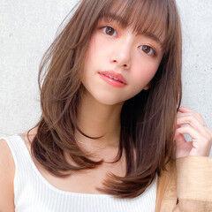 小顔 レイヤーカット レイヤー コンサバ ヘアスタイルや髪型の写真・画像