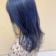外国人風 ブルージュ ガーリー ブルーラベンダー ヘアスタイルや髪型の写真・画像