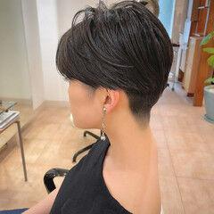 ショートヘア 刈り上げ女子 ツーブロック ショート ヘアスタイルや髪型の写真・画像