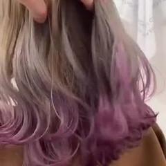 ミルクティーベージュ ミルクティー デザインカラー 裾カラー ヘアスタイルや髪型の写真・画像