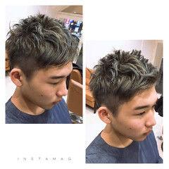 ショート ナチュラル メンズ ヘアワックス ヘアスタイルや髪型の写真・画像