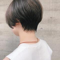 ショート ナチュラル 黒髪 毛先パーマ ヘアスタイルや髪型の写真・画像