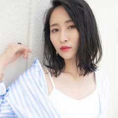 涼しげ デート 夏 モード ヘアスタイルや髪型の写真・画像