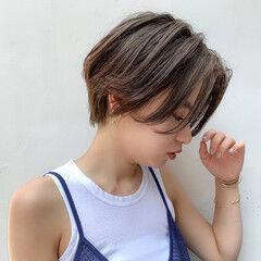 ショコラブラウン ナチュラル オーガニックカラー ショート ヘアスタイルや髪型の写真・画像