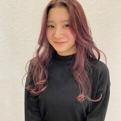 可愛い フェミニン ロング ふんわり ヘアスタイルや髪型の写真・画像
